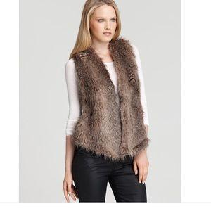 Ella Moss Arabella Faux Fur Vest Size M/L